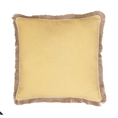 Bailey Fringe Welt and Raffia Trim Throw Pillow Color: Sunshine