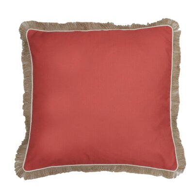 Bailey Fringe Welt and Raffia Trim Throw Pillow Color: Ember Glow