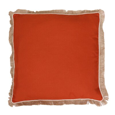 Bailey Fringe Welt and Raffia Trim Throw Pillow Color: Hawaiian Sunset