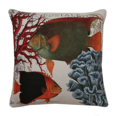 Coastal Fish Printed Throw Pillow