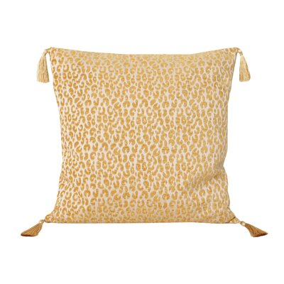 Gabriella Cheetah Throw Pillow Color: Honey Gold