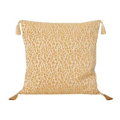 Gabriella Cheetah Throw Pillow Color: Honey Gold