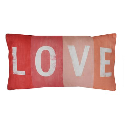Coastal Love Printed Lumbar Pillow Color: Coral