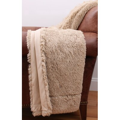 Webb Fur Decorative Throw Color: Oatmeal