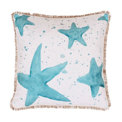 Coastal Samaria Starfish Splatter Throw Pillow