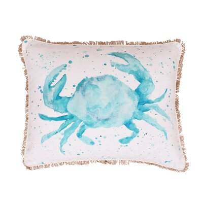 Coastal Carmello Crab Splatter Throw Pillow