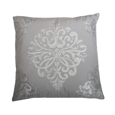 Quinn Sequin Trellis Throw Pillow Color: Vapor