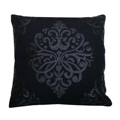 Quinn Sequin Trellis Throw Pillow Color: Navy Blazer