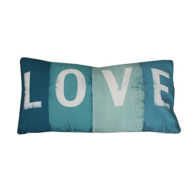 Coastal Love Printed Lumbar Pillow Color: Blue