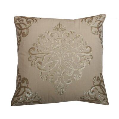 Quinn Sequin Trellis Throw Pillow Color: Natural