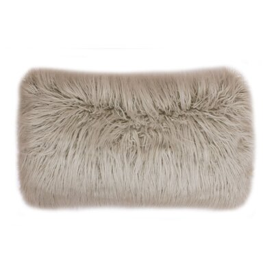 Alanna Faux Mongolian Lumbar Pillow Color: Oatmeal