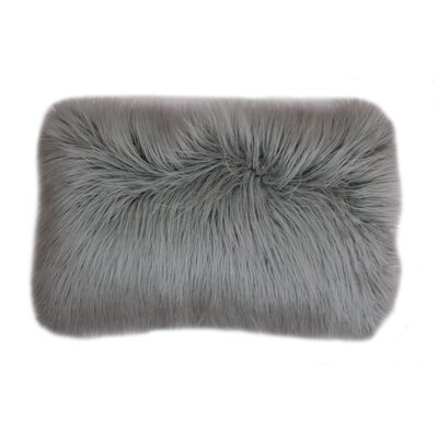 Vanbuskirk Faux Fur Lumbar Pillow Color: Silver