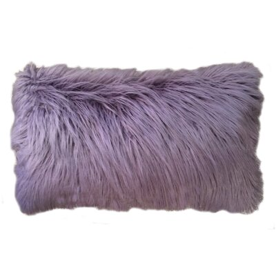 Alanna Faux Mongolian Lumbar Pillow Color: Nirvana