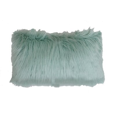 Alanna Faux Mongolian Lumbar Pillow Color: Harbor Blue