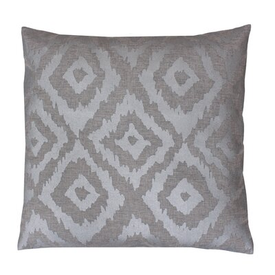 Munoz Foil Printed Throw Pillow Color: Silver