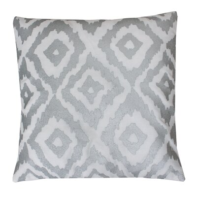 Munoz Foil Printed Throw Pillow Color: White