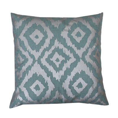 Munoz Foil Printed Throw Pillow Color: Harbor