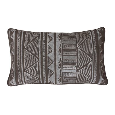 Tracey Embroidered Tribal Sketch Lumbar Pillow Color: Elephant Skin