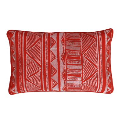 Tracey Embroidered Tribal Sketch Lumbar Pillow Color: Koi
