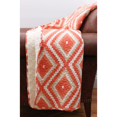 Melina Quilted Throw Color: Camellia