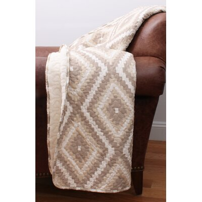 Melina Quilted Throw Color: Natural