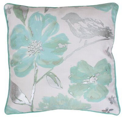 Joan Floral Throw Pillow Color: Bay Silver