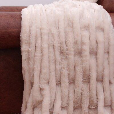 Josephine Fur Throw Color: Humus