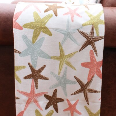 Coastal Atlantis Starfish Microplush Throw