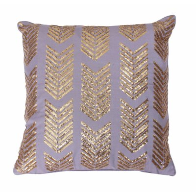 Hadara Sequin Arrow Throw Pillow Color: Nirvana / Gold