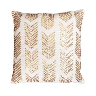 Hadara Sequin Arrow Throw Pillow Color: Egret / Gold