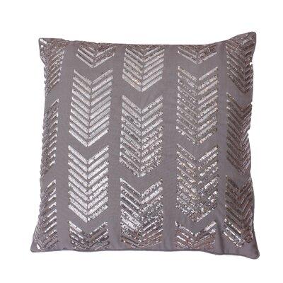 Hadara Sequin Arrow Throw Pillow Color: Silver / Silver