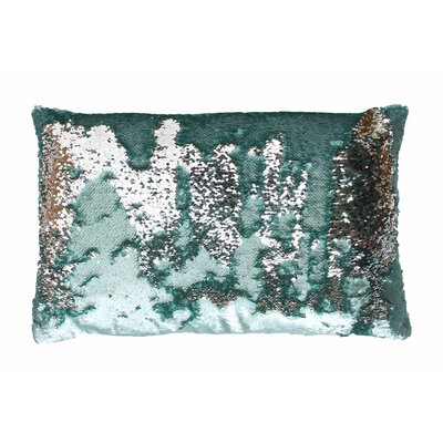 Mermaid Sequin Reversible Melody Lumbar Pillow Color: Harbor / Silver