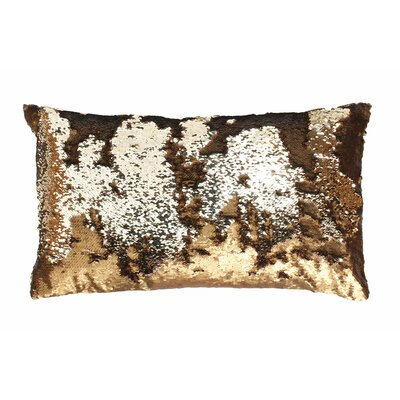 Mermaid Sequin Reversible Melody Lumbar Pillow Color: Copper / Copper