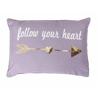 Edward Follow Your Heart Lumbar Pillow Color: Nirvana / Gold