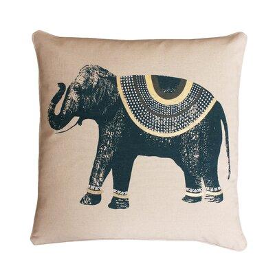 Ezra Elephant Throw Pillow Color: Reflecting / Pond