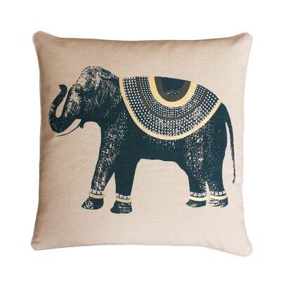Ezra Elephant Throw Pillow Color: Reflecting / Pond
