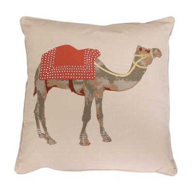 Czer Camel Throw Pillow Color: Rust