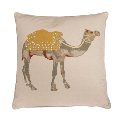 Czer Camel Throw Pillow Color: Honey / Gold