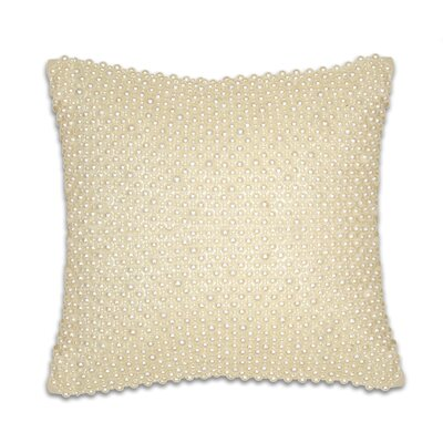 Ivory Pearl Velvet Throw Pillow