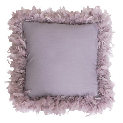 Mary Feather Trim Throw Pillow Color: Nirvana