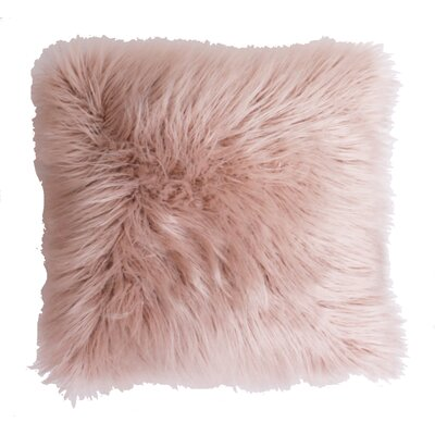 Keller Throw Pillow Color: Rose Smoke, Size: 26 H x 26 W x 1 D