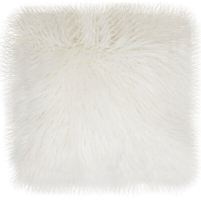 Keller Throw Pillow Color: Bright White, Size: 26 H x 26 W x 1 D