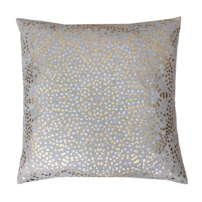 Anu Foil Dot Throw Pillow Color: Silver