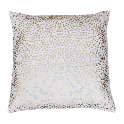 Anu Foil Dot Throw Pillow Color: White