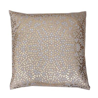 Anu Foil Dot Throw Pillow Color: Natural