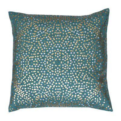 Anu Foil Dot Throw Pillow Color: Turquoise