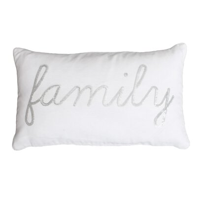 Lumbar Pillow Color: Bright White Silver