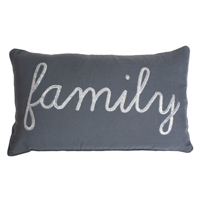 Lumbar Pillow Color: Charcoal Silver