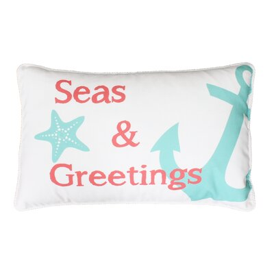 Seas and Greetings Throw Pillow