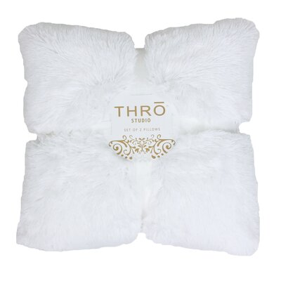 Torsten Chubby Throw Pillow Color: Bright White